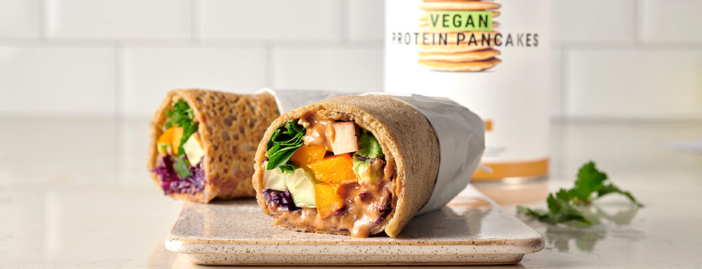 Rainbow wraps vegani